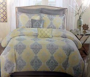 8 Piece CAL KING Comforter Set 2 shams 2 Euro shams 2 toss pillows bedskirt