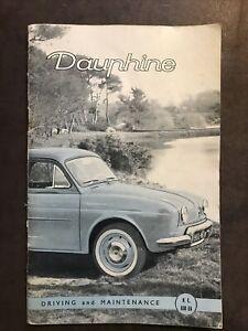 Original Renault Dauphine Driving & Maintenance Owner's Instruction Manual