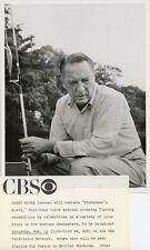 GARRY MOORE HOLDS FISHING POLE FISHERMAN'S WORLD ORIGINAL 1969 CBS TV PHOTO