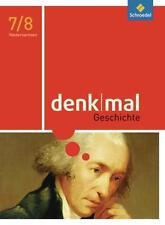 denkmal Geschichte 7 /  8 Schülerband, Schroedel,  9783507356023