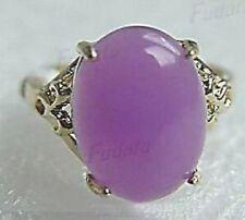 cadeau de Noël, violet jade femme Bague  taille 57 #