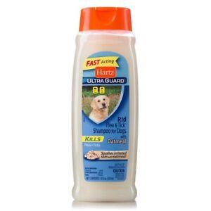 Hartz Ultra Guard Rid Flea & Tick Shampoo For Dogs With Oatmeal 18 oz