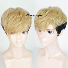 Killing Stalking Manga Sang Woo Cosplay Wig Black Ombre Brown Halloween Wigs