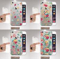Coque Pour ,Samsung,Transparent,Silicone,Doux,Étui,Fleurs,Couleurs,Femme,