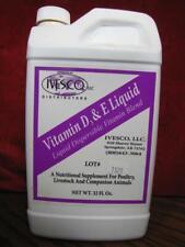 Ivesco Vitamin D3 & E 32 oz Liquid Livestock Dispersible Vitamin Blend 1 Quart
