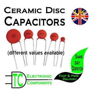 Disc Ceramic Capacitors  Many values available