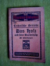 """""""Technische Betriebe – Das Holz und seine Bearbeitung"""" von Julius Hoch (1914)"""