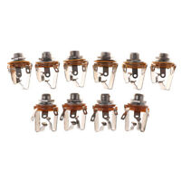 10PCS 6.35mm 2-channel Stereo Socket Jack Female Connector Panel Mount Solde DS