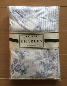 "Caroline Charles Duvet Cover 86""x86""-from Priscilla Presley estate sale"