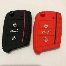 Silicone Key Fob Skin Case Cover for Volkswagen Golf 7 GTI 7 Golf R R20 MK7-2pcs