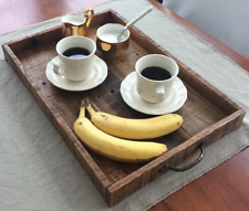 Rustic Serving Tray, Ottoman Tray, Serving Tray With Handles, Wood Tray, Wooden