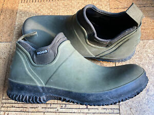 "Bogs Ankle Boots Waterproof ""Urban Farmer"" Mens Size 11 Olive Green Rain Shoes"