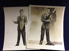 2 Original Vintage Publicity Photos Frank Sinatra James J. Kriegsmann Ny Studio