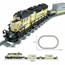 Compatible with Lego City Train Power-Driven Diesel Rail Train Cargo With Track