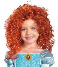 Merida Wig Brave Disney Princess Fancy Dress Halloween Child Costume Accessory