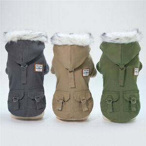 Dog Winter Coat for Small Medium Dogs Pet Puppy Warm Fleece Lined Jacket Apparel