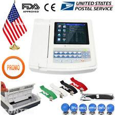 USA 12 Channel 12 Lead ECG/EKG Electrocardiograph,Realtime Analysis,PC Software