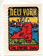 1960's 1970's New York Empire State Vintage Original Travel Decal sticker NOS