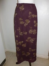 EDDIE BAUER FLORAL LAWN RAYON SUMMER SKIRT SZ 4 FULLY LINED