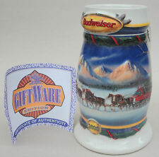 Budweiser Ceramarte Brazil Beer Stein Mug 2000 Holiday in Mountains Cert CS416