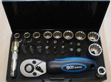 """Gearlock-Steckschlüsselsatz 1/4"""", 28-teilig  BGS 2143 Mini Knarrenkasten Ratsche"""