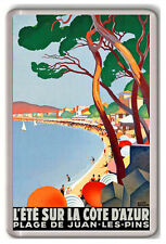 COTE D'AZUR FRENCH RIVIERA VINTAGE FRIDGE MAGNET IMAN NEVERA