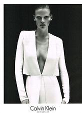 PUBLICITE ADVERTISING  2011   CALVIN  KLEIN  haute couture
