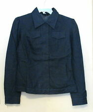 Womens Jeans Style Linen Jacket  Navy  M  NWOT