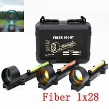 Tactical red Dot Reflex Sight Circle Fiber Sight 1X28 Collimeter Light Condutor