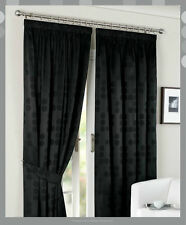 "Pair of Jacquard Readymade Curtains -90""x90""  Fully Lined with Tie Backs"