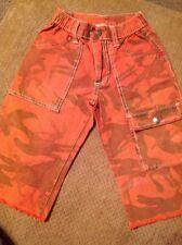 Charlie Rocket Boy Size 5 Orange Camo Long Short