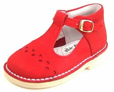 DE OSU A-606 - Toddler Girls' Red Nubuck Leather High Top Shoes - Euro 22 Size 6