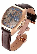 New Mens Invicta 18922 Reserve Tonneau Swiss Made Automatic SW500 Leather Watch