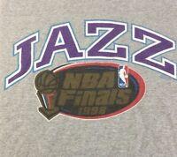 Utah Jazz Nba Finals 1998 2xl Lee Sport T Shirt Vintage Gray