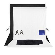 Phot-R 2mx3m Stand 2x 3mx3m Cotton Muslin Coloured Background Chamois Cloth