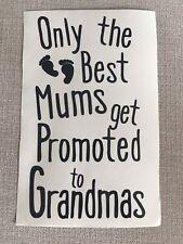 Vinyl Wine Bottle Sticker - Only the best mums get promoted