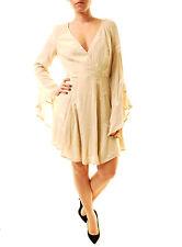 Free People Women's Jasmine Embroidered Dress Ivory UK 14 RRP £118 BCF612