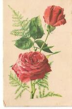 Carnation Flowers Rozs Endre vintage colorful - Budapest Postcards