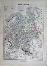 1883 ANTIQUE MAP- RUSSIA IN EUROPE