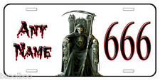 The Death 666 Any Name Novelty Car Tag Personalized Auto License Plate