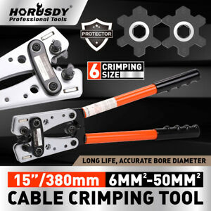 6-50 mm2 Wire Crimper Cable Crimp Electric Tube Crimping Hand Tool Battery Lug
