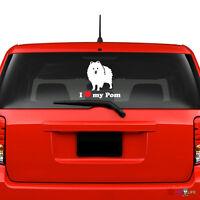 Pom DadHigh Quality Pomeranian Vinyl Dog Window Decal Sticker