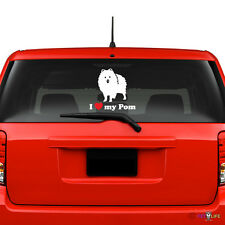 I Love My Pom Windshield Sticker Vinyl Auto Window pomeranian