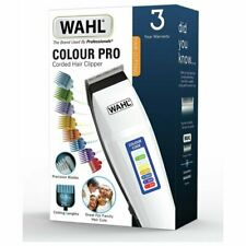 Wahl Colour Pro Corded Hair Clipper 8 Comb Attachments