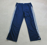VINTAGE Adidas Pants Adult 2XL XXL Blue White Stripes Spell Out Warm Up Mens 90s