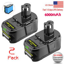2 X  6.0Ah 18 VOLT P108 for RYOBI 18V ONE PLUS Lithium-Ion High Capacity Battery