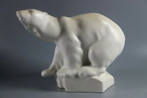 Wedgwood Pottery Model of a Polar Bear 1930's signed Roy Smith