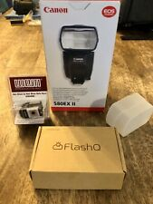 Canon Speedlite 580EX II Shoe Mount Flash for  Canon with free added bundle!