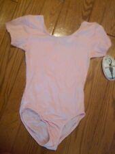 NWT TAGS GIRLS LIGHT PINK DANCE LEOTARD BY JACQUES MORET LARGE 12-14
