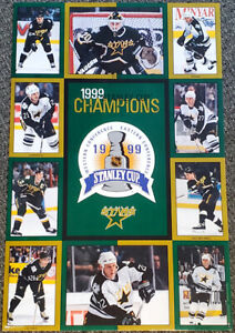 Dallas Stars 1999 STANLEY CUP CHAMPIONS Original 10-Player 23x35 Wall POSTER